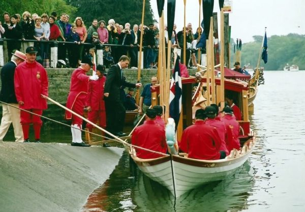 "The ""Jubilant"" naming ceremony at Isleworth, conducted by HRH The Duke of York on 14th September 2002."